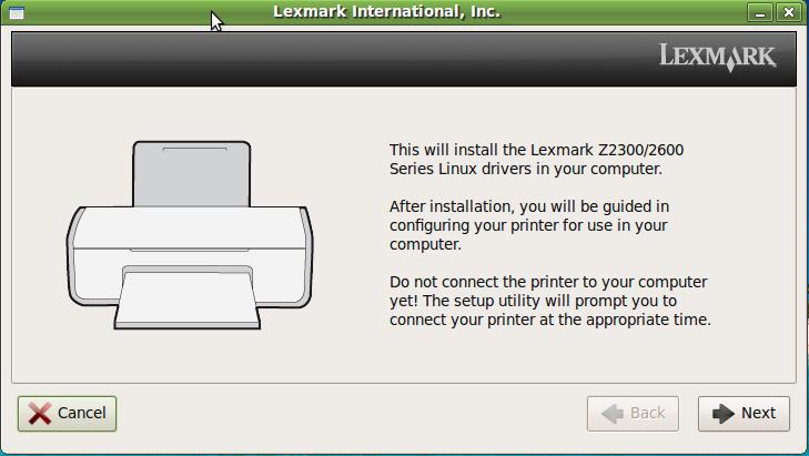 driver da impressora lexmark z2300