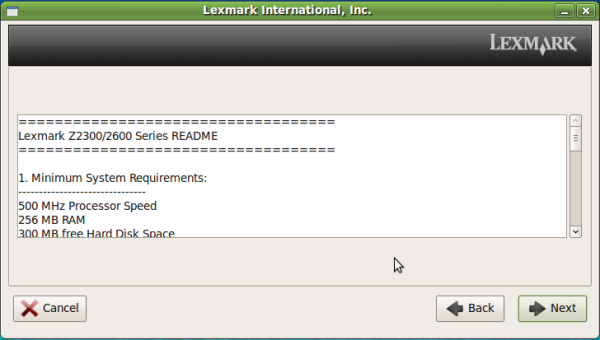 Installing Lexmark Printer 2600 Series on Linux | Remember's