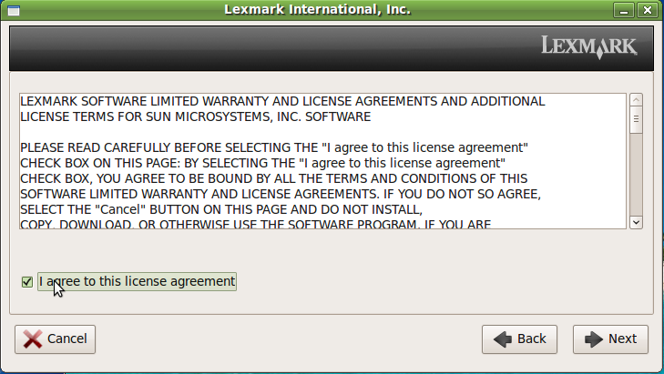 Installing Lexmark Printer 2600 Series On Linux