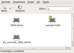 Printers configuration screen